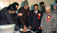 Ghulam Nabi Azad during website inauguration.