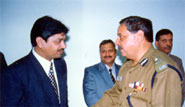 Director General of Police Jammu & Kashmir Mr. Gopal Sharma during website inauguration.