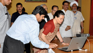 Smt. Sonia Gandhi during website inauguration.